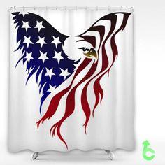 Cheap Eagle American Flag Drawing Shower Curtain cheap and best quality. American Flag Drawing, Harry Pottertattoo, American Flag Eagle, Native American, 1 Tattoo, Tattoo Eagle, Tattoo Forearm, Quilt Of Valor, Flag Art