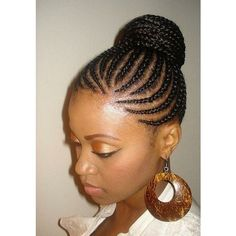 Slideshow: African American Braids | Sophisticated Edge | BEAUTY AND... ❤ liked on Polyvore featuring hair
