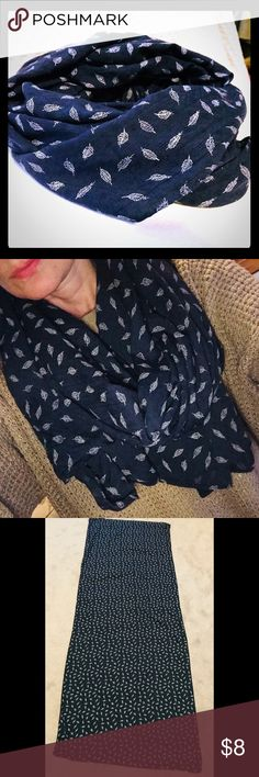 26x70 Feather Boutique Scarf Worn once. Although I love this scarf, I own so many that I have only worn it once. Excellent condition. No pulls, holes, tears. Measures approx 26 by 70. Can be worn multiple ways as shown. Accessories Scarves & Wraps