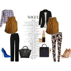 """Mustard Ruffled Tank-Career to Casual"" by fashnboucou on Polyvore"