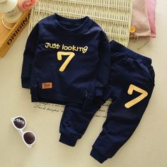 Kids Baby Boys Clothes Infant Boy Outfits Clothing Sets T shirt + Pants Boys And Girls Clothes, Toddler Boy Outfits, Toddler Fashion, Toddler Boys, Kids Outfits, Kids Fashion, Baby Boys, Infant Boys, Kids Boys