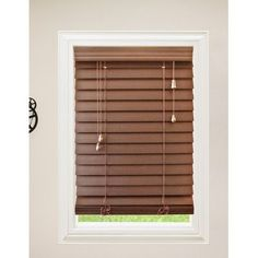 "Wildon Home  Faux Premium Wood Venetian Blind Color: Maple, Size: 26"" W x 72"" L"