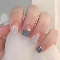 Our Instant Gel Shine Nail Strips are cruelty free, safe, and innovative. Unlike other nail wraps, our NailsNail nail strips go through 9 layers of printing and Cute Nail Designs, Acrylic Nail Designs, Acrylic Nails, Coffin Nails, Striped Nail Designs, Clear Nail Designs, Popular Nail Designs, Elegant Nail Designs, Spring Nail Art