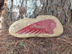 INDIAN-MOTORCYCLES-SANDCARVED-LARGE-GRANITE-RIVER-STONE