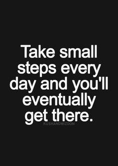 Elke dag een stap maakt een lange reis