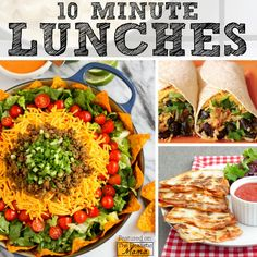 10 Minute Lunch Ideas - The Realistic Mama Lunch Recipes, Cooking Recipes, Healthy Recipes, Healthy Meals, Healthy Lunches For Kids, Healthy Eating, Work Lunches, Mini Grilled Cheeses, Smart Snacks