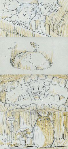 I wonder how Hayao Miyazaki first thought of Totoro.