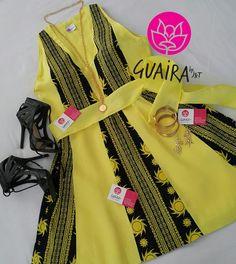 En verano lucete con los nuevos diseños  de la colección 'Etnias de mi País' de Guaira by J&T  sin duda un vestido de corte moderno, sin mangas y amplia falda ideal para lucir tu bronceado en tono amarillo vibrante confeccionado en tela de saburet. Buscanos en instagran Guairabyjt
