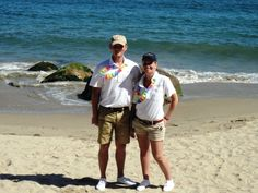 Maxime & Charlie on the beach. Just one of the perks of the job! #Malibu