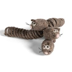 KittiChase - 3-pack Cat Chase Mouse Toy with Spring Tail - Handmade with 100% All-Natural Wool - For Cats and Kittens * Want to know more, click on the image. (This is an affiliate link and I receive a commission for the sales) #Pets