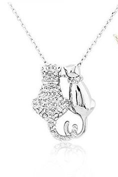 Crystal Cats Necklace New Pendant Silver Plated Charm Two... https://www.amazon.com/dp/B0160LI63A/ref=cm_sw_r_pi_dp_x_hwD-ybJN32CE2