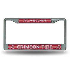 Alabama Crimson Tide NCAA Bling Glitter Chrome License Plate Frame
