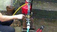 Home built model hydraulic ram pump