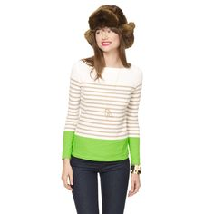 Color Block Boatneck Stripe Tee - View All - Shop by Category - Clothing