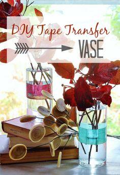 DIY Tape Transfer Vase