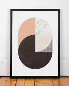 Abstract artwork, Abstract art print, Modern print poster, Geometric print, Wall art, Wall decor, Office decor, Mid century modern, A3 art