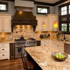 Traditional Kitchen Travertine Subway Backsplash Design, Pictures, Remodel, Decor and Ideas - page 2