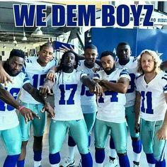 WE DEM BOYZ!!!!!!!! Dallas Cowboys Party, Houston Texans Football, Cowboys 4, Denver Broncos, Pittsburgh Steelers, Cowboy Love, How Bout Them Cowboys, Football Memes, Football Season