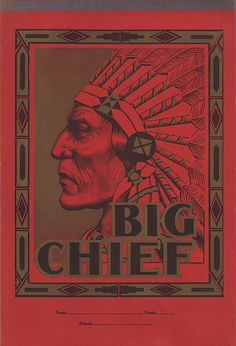 Big Chief writing tablets. The iconic school supply has changed a lot over the years and its history is a bit vague and sketchy.  Prices have ranged from 10¢ in the 1950′s to a couple of bucks in the 1970′s.