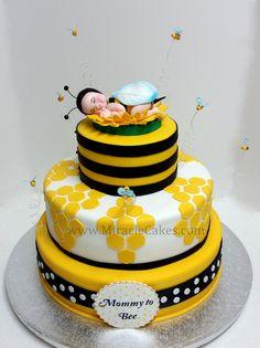bolo abelhas decorado