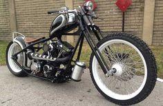 Custom bobber / chopper by Thug Custom Cycles.