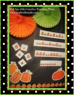 Patterning Fun!  Do you want a super easy center activity for your students?  I've created a really cute patterning activity using CTP's pumpkin stickers and border!