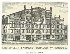 US-KY(1891) p282 LOUISVILLE, FARMERS' TOBACCO WAREHOUSE - Stock Image