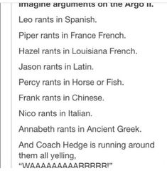 imagine if they were all in a big argument and were speaking these languages. that is something i would love to hear
