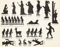 Blanche Neige conte planche d`ombres théâtre d`ombres ombres chinoises silhouettes marionnettes