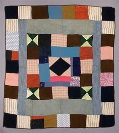 Crazy quilt, 1880, University of Alberta Museums. -  syntethic, wool, cotton, silk, synthetic