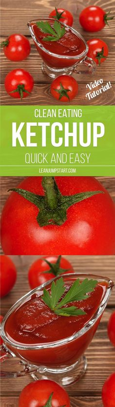 Making this clean eating ketchup at home is really easy. This homemade tomato…