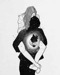 love wallpaper couple kiss ~ love wallpaper co. Illustration Art Drawing, Art Drawings Sketches, Easy Drawings, Pencil Drawings, Couple Illustration, Illustrations, Romance Art, Galaxy Painting, Couple Art