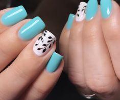 Color Turquesa, Manicure, Nails, Nail Art, Crochet, Beauty, Enamels, Finger Nails, Cake