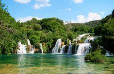 Krka Waterfalls as part of Krka National Park in Dalmatia Sibenik Croatia Krka National Park Croatia, Plitvice Lakes National Park, Croatia Tourism, Croatia Travel, Dalmatia Croatia, Krka Waterfalls, Parque Natural, Nature Sauvage, National Parks