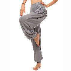 Hot Wide Leg Elastic Harem Yoga Pants High Waist Sport Dance Loose Trousers - Banggood Mobile