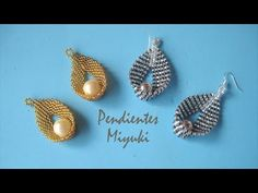 DIY - Pendientes miyuki -Earrings miyuki -Miyuki बालियां أقراط ميوكي EarringMiyuki Miyuki Earrings - diy and joy Seed Bead Jewelry, Seed Beads, Beaded Jewelry, Beaded Necklace, Beaded Bracelets, Diy Jewelry, Jewelry Rings, Jewellery, Seed Bead Tutorials