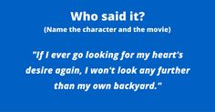 Are you a classic movie buff? You may know the stories and the actors, but can you place famous quotes with their movie? Test your knowledge with this easy quote. Place the quote,