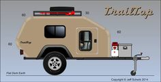 """TrailTop"" modular trailer topper building components - Page 28 - Expedition Portal Small Camping Trailer, Used Camping Trailers, Diy Camper Trailer, Jeep Camping, Camping Jokes, Camping Cabins, Camping List, Beach Camping, Camping Stuff"