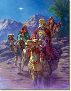 We three Kings of Orient are, bearing gifts we traverse afar. Field and fountain, moor and mountain, following  yonder star. O Star of wonder, Star of night,