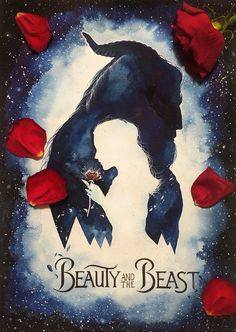 'Tale as old as time' -Beauty and the Beast inspired by the 2017 poster by jmp9595_art instagram: https://www.instagram.com/jmp9595_art/
