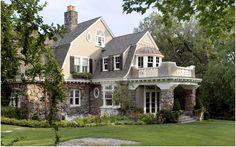 shingle style Really lovely with the Dutch colonial/shingle style