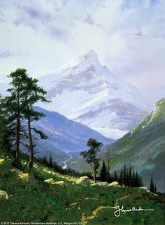 Spring In The Alps by Thomas Kinkade  June 1994