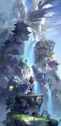 Post with 2680 votes and 101721 views. Tagged with fantasy, dump, destinybestgameever, helo; Dump of my favorite fantasy world pictures Fantasy City, Fantasy Places, Fantasy Kunst, Fantasy Village, My Fantasy World, Environment Concept, Environment Design, Fantasy Artwork, Anime Art Fantasy