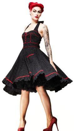 Hell Bunny 50's Dress Vanity Polka Dot #hellbunny #50sdress