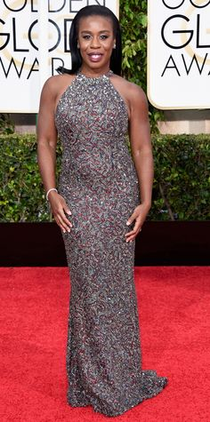 Golden Globes 2015: Red Carpet Arrivals - Uzo Aduba from #InStyle