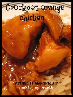 Crock pot orange chicken...
