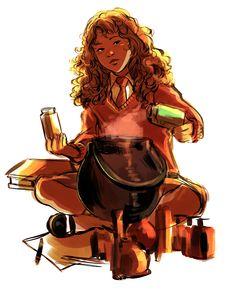 Hermione Granger by bevsi Harry Potter Anime, Harry Potter Fan Art, Harry Potter Universal, Harry Potter Characters, Ravenclaw, Hogwarts, Desenhos Harry Potter, Fanart, Potter Facts