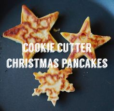 Cookie cutter Christmas pancakes - perfect for Christmas morning