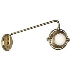 (Limited Supply) Click Image Above: Iris Swingarm Wall Sconce By Robert Abbey
