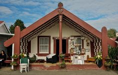 Taumaihiorongo Marae, Kakahi. Sara McIntyre King And Country, New Zealand, Gazebo, Exterior, Outdoor Structures, Mansions, House Styles, Outdoor Decor, Dads